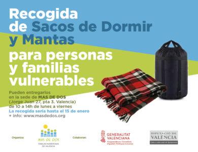 Solidaridad: Campaña sacos y mantas para familias vulnerables