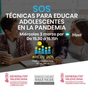 Conferencia SOS: Técnicas para educar ADOLESCENTES en la pandemia